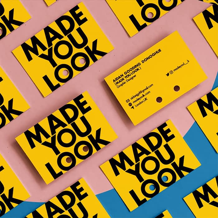 Aidan Gooding Donoghue business cards by MOO