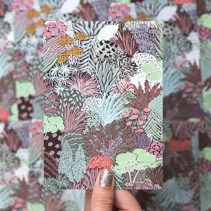 Sara Boccaccini Meadows card with garden pattern