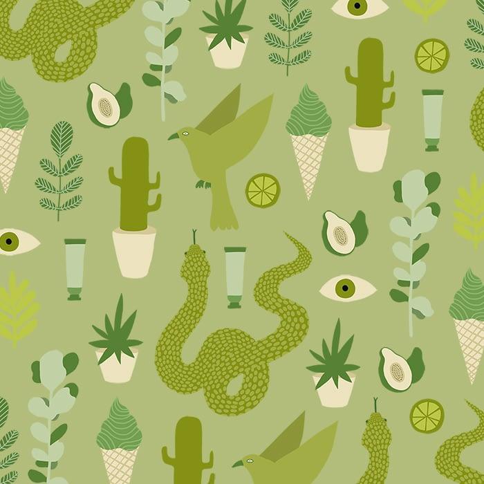 Green pattern Melanie Johnsson