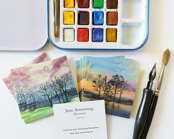 June Armstrong watercolor nature cards