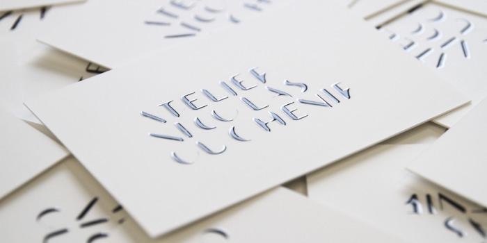 Calligraphy Nicholas sleek business cards