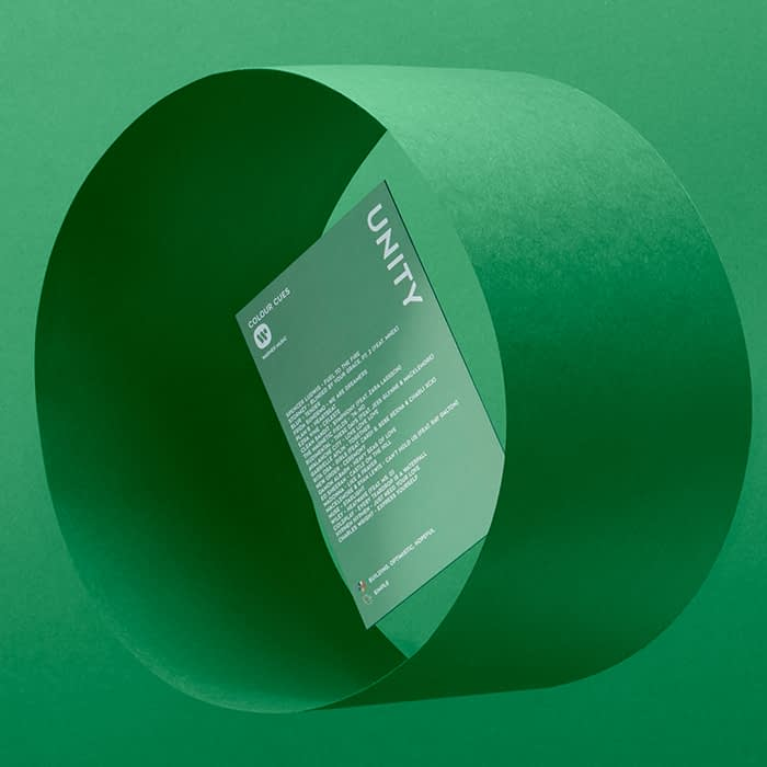 green color cue music card