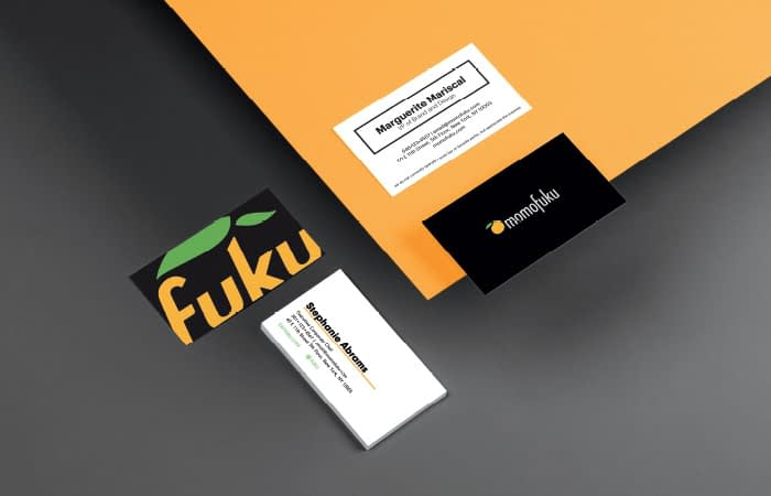 Momofuku business cards