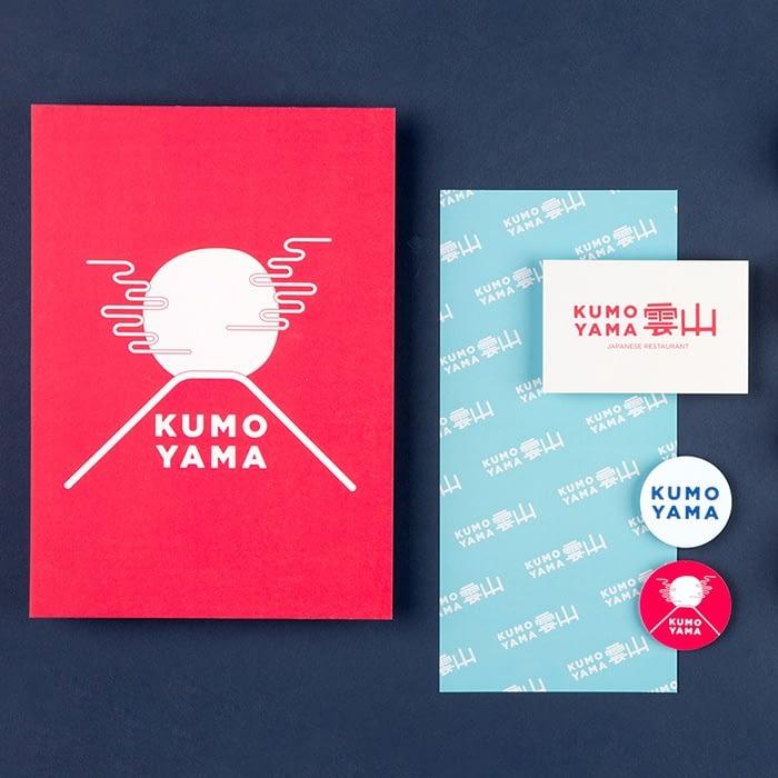 Kumo yama brand mockup by Em Stokes