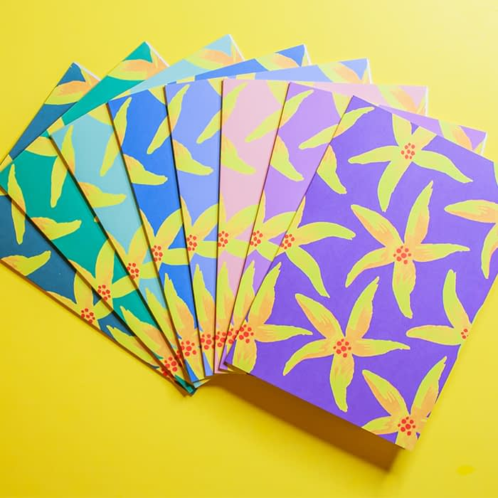 Dry Goods business cards in various colors