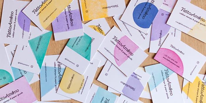 Fatto Ameno colorful business cards